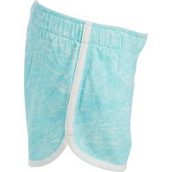 Short 500 Baby Gym imprimé fille bleu/blanc