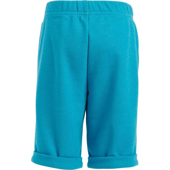 Pantalón Corto Chándal Short Domyos FT Bebé 12 Meses - 6 Años Azul Turquesa