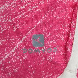 Meisjesshort 100 voor kleutergym print roze/wit