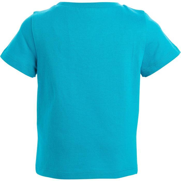 Lot x2 T-Shirt 100 manches courtes Gym Baby imprimé blanc bleu - 1272289