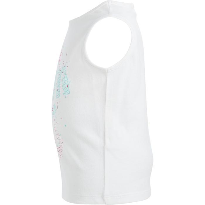 Débardeur 100 Gym Baby imprimé blanc - 1272293