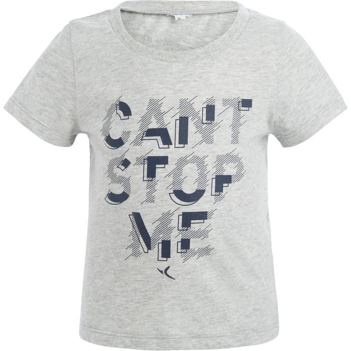 Lot x2 T-Shirt 100 manches courtes Gym Baby imprimé bleu gris - 1272298
