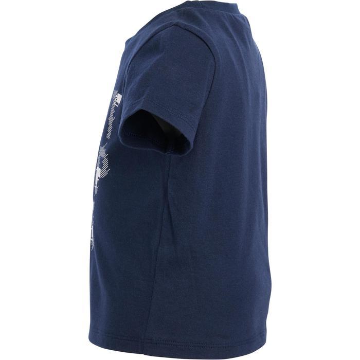 Camiseta Manga Corta Deportiva Gimnasia Domyos 100 Bebé Azul