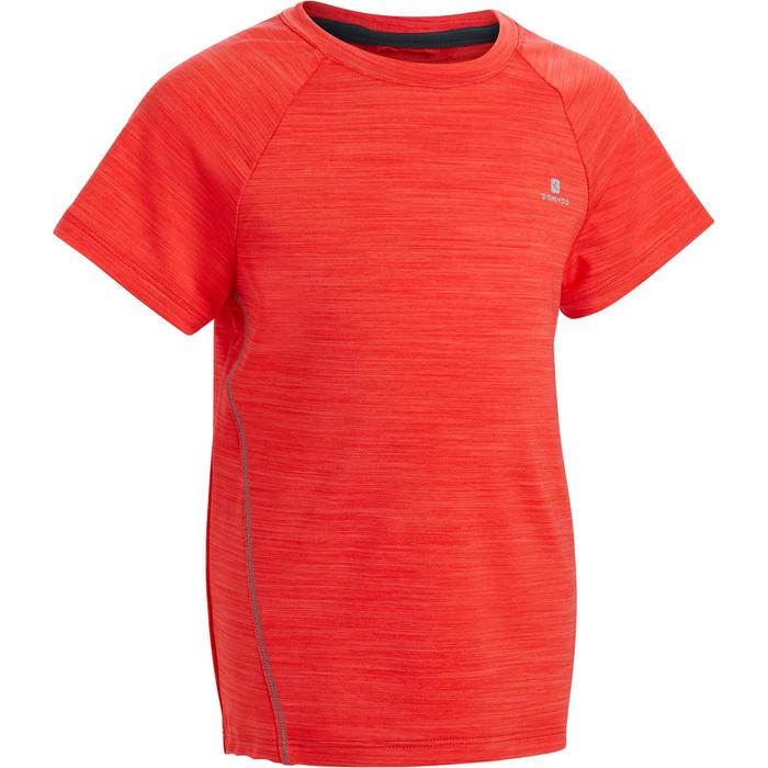 Camiseta de manga corta S500 gimnasia niño rojo