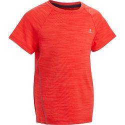 Gym T-shirt met korte mouwen S500 voor jongens