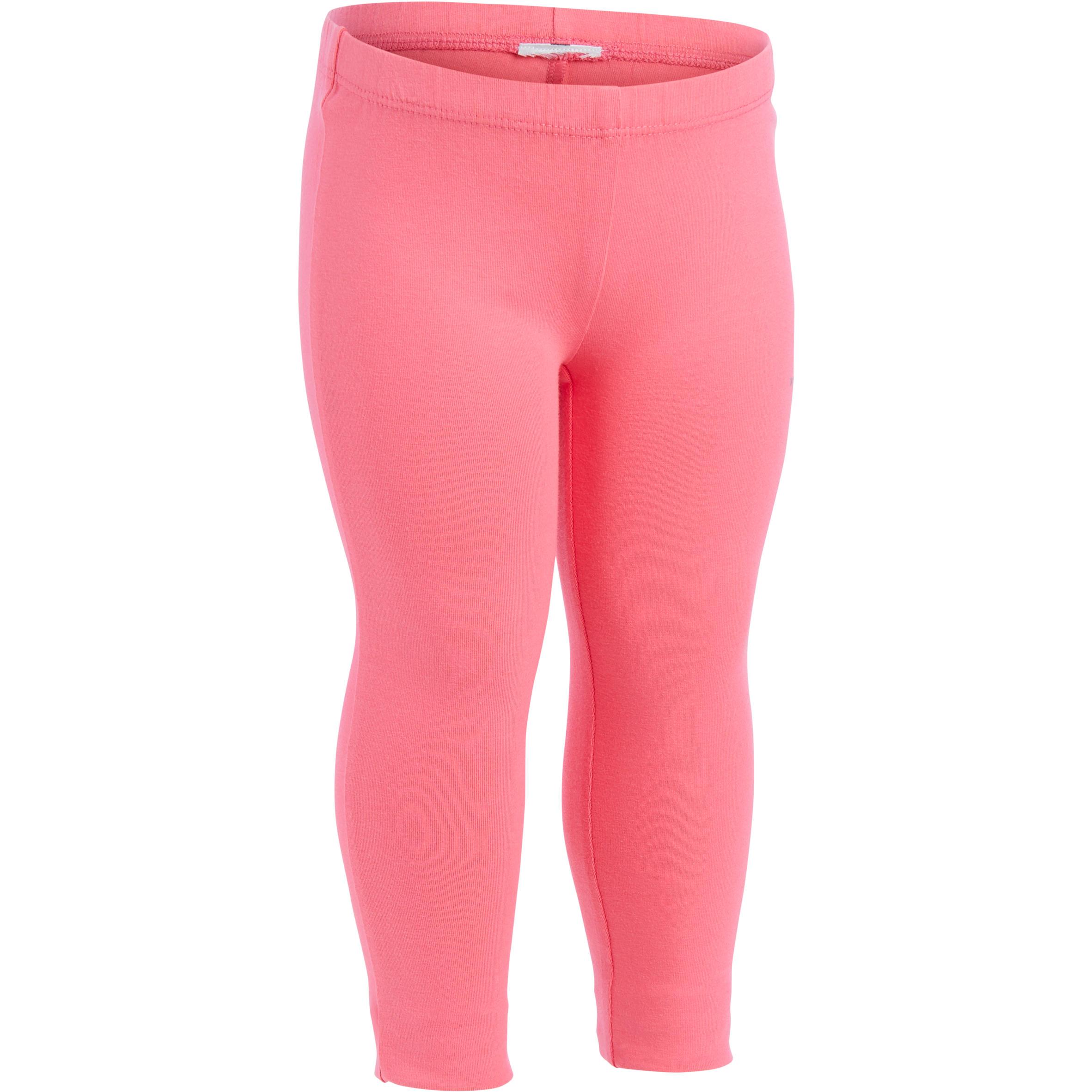 100 Girls' Baby Gym Leggings Twin-Pack - Pink Print