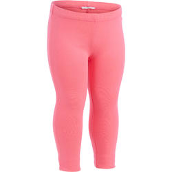 100 Girls' Baby Gym Leggings Twin-Pack - Pink Print