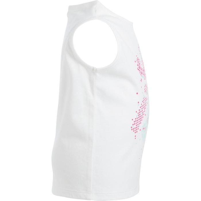 Débardeur 100 Gym Baby imprimé blanc - 1272334