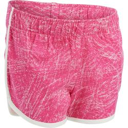 Pantalón Corto Chándal Short Domyos GSH 500 Bebé 12 Meses-6 Años Rosa Estampado
