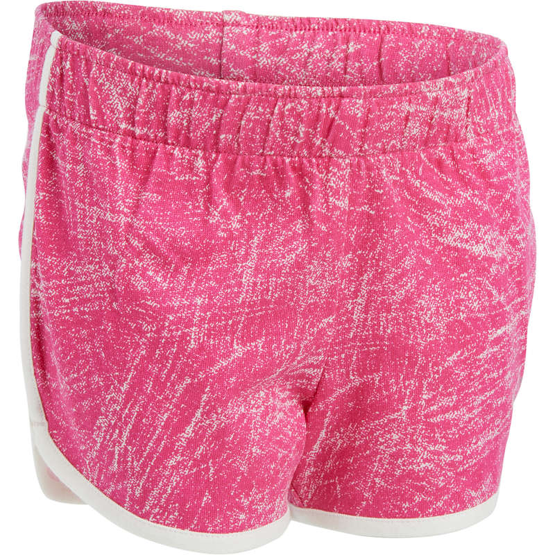 BABY GYM APPAREL Baby and Toddlers - 100 Gym Shorts - Pink/White DOMYOS - Kids