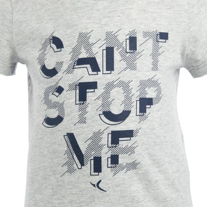 Lot x2 T-Shirt 100 manches courtes Gym Baby imprimé bleu gris - 1272390