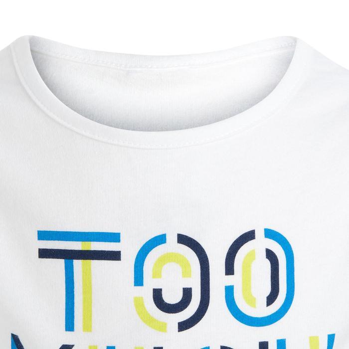 Débardeur 100 Gym Baby imprimé blanc