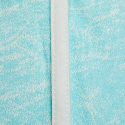Meisjesshort 500 voor kleutergym print blauw/wit