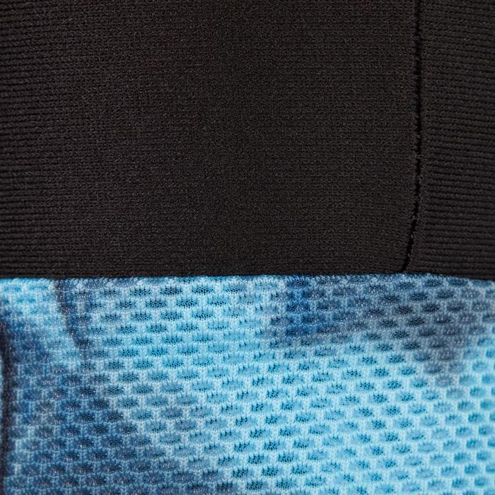 Legging 7/8 fitness cardio femme bleu marine détails tropicaux 500 Domyos - 1272545