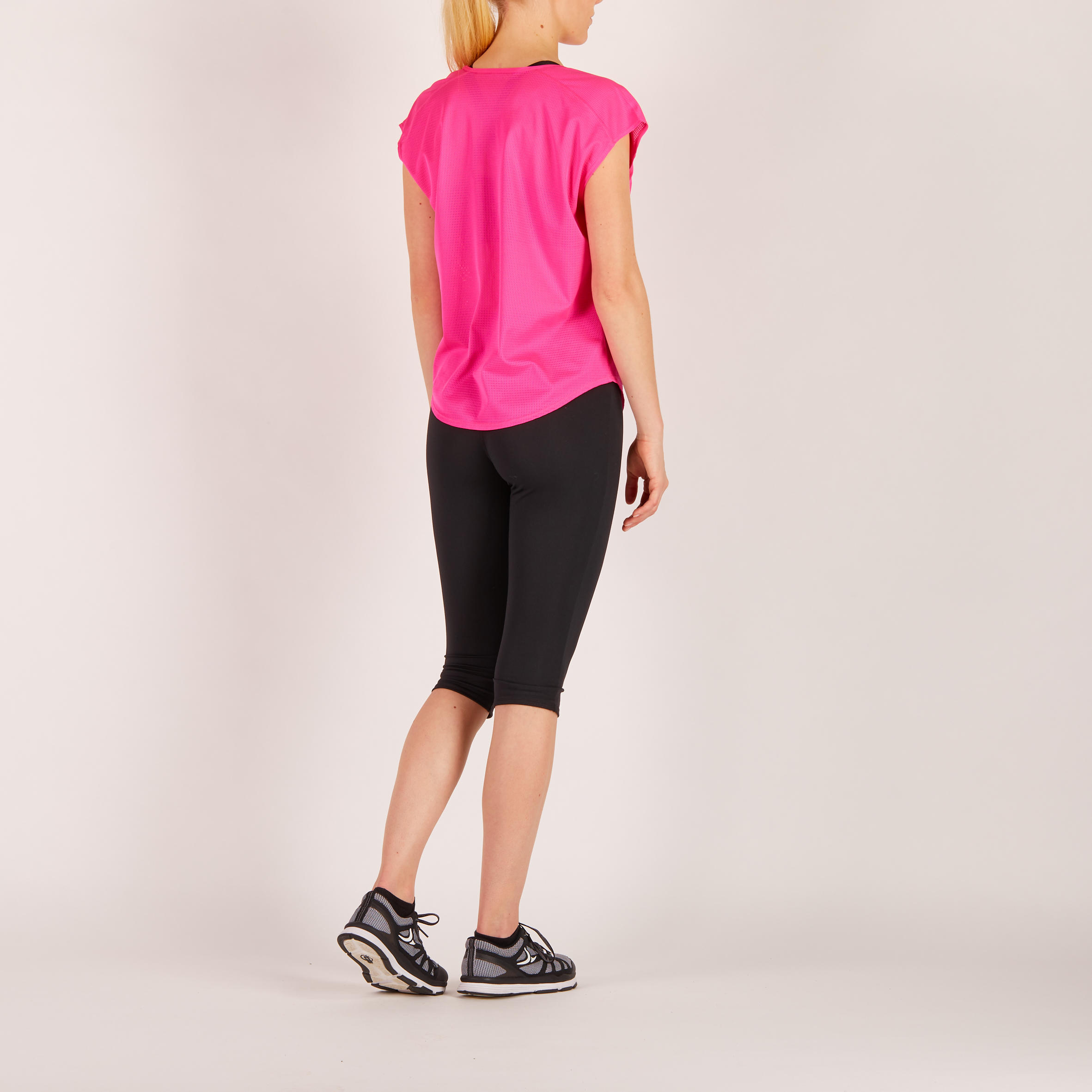 120 Women's Loose-Fit Cardio Fitness T-Shirt - Pink Print