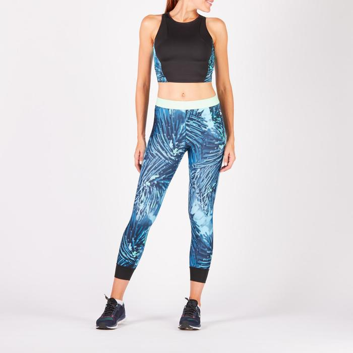 Cropped top fitness cardio femme bleu marine 500 Domyos - 1272640