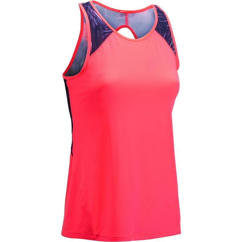 14d81b1ba Camiseta regata feminina de fitness 500 Domyos