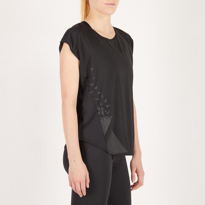 T-shirt loose fitness cardio femme avec imprimés 120 Domyos - 1272685