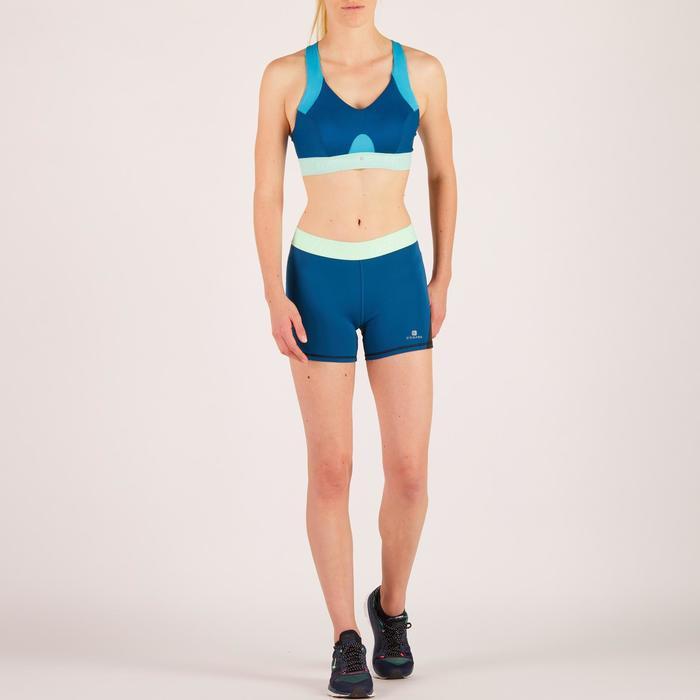 Sportbeha 500 voor cardiofitness blauw Domyos