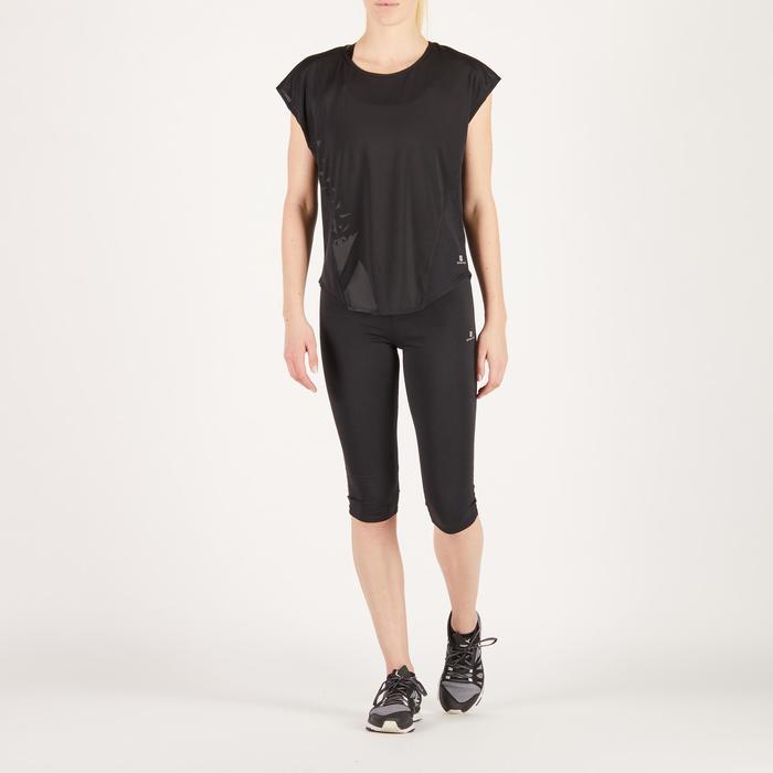 T-shirt loose fitness cardio femme avec imprimés 120 Domyos - 1272734