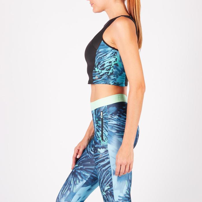 Cropped top fitness cardio femme bleu marine 500 Domyos - 1272757