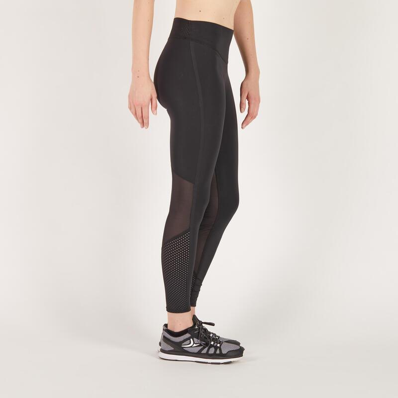 900 Women S Cardio Fitness Leggings Black Domyos By Decathlon