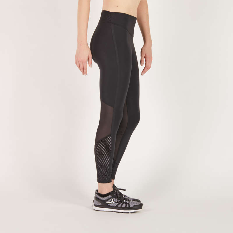 FITNESS CARDIO EXPERT WOMAN CLOTHING - Women's Cardio Fitness Leggings - Black DOMYOS