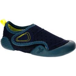 Zapatillas Gimnasia Bebé Domyos 500 Babylight Bebé Azul Marino/ Gris