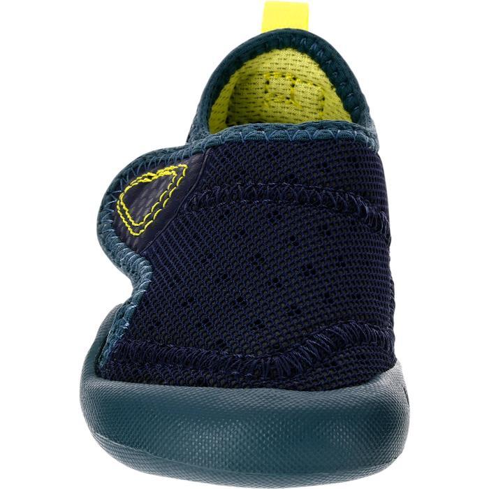 Zapatillas primeros pasos 500 BABYLIGHT GIMNASIA azul marino/gris oscuro