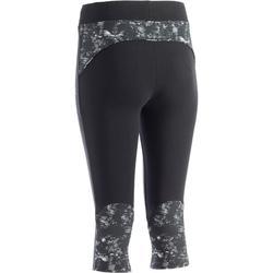 Kuitbroek 520 pilates en lichte gym dames zwart print