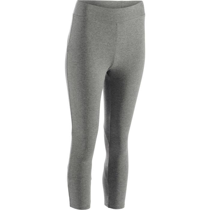 Legging 7/8 520 Gym & Pilates femme gris chiné - 1273111