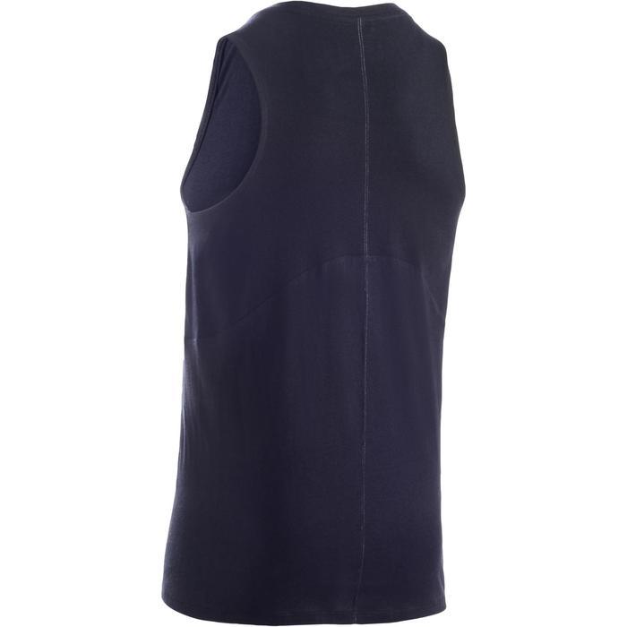 Camiseta sin mangas 500 gimnasia niña gris negro