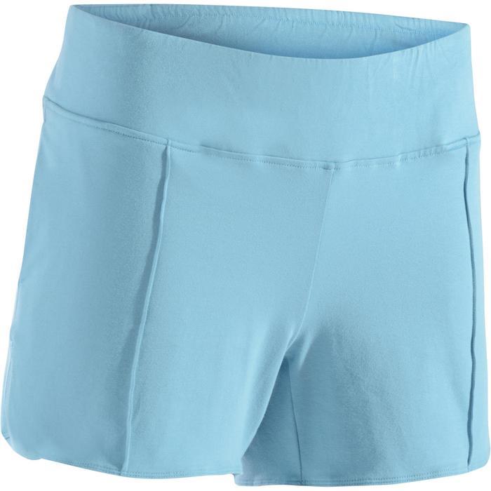 Sporthose kurz 520 Gym & Pilates Damen eisblau