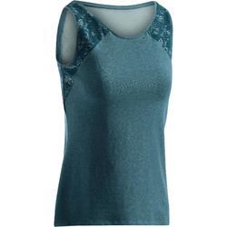 520 Women's Gym & Pilates Tank Top - Mottled Turquoise