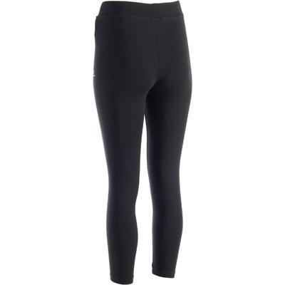 Legging 7/8 Fit+ 500 slim Pilates Gym douce femme noir
