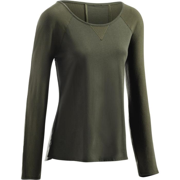 T-Shirt 900 manches longues Gym & Pilates Femme - 1273126