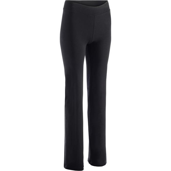 Leggings Regular Fit+ 500 Gym Stretching Damen schwarz
