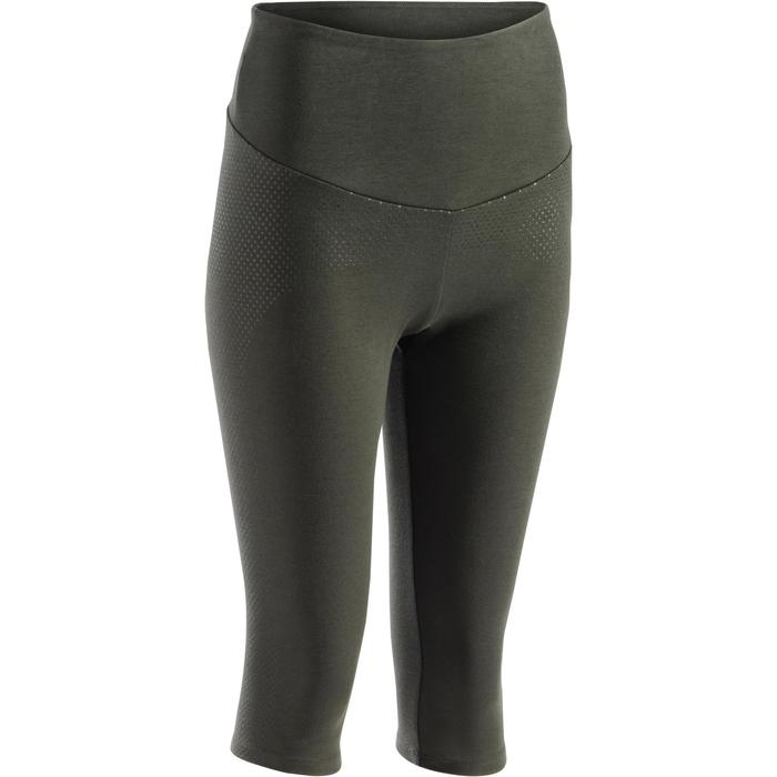3/4-Leggings Gym 900 Fitness Damen khaki