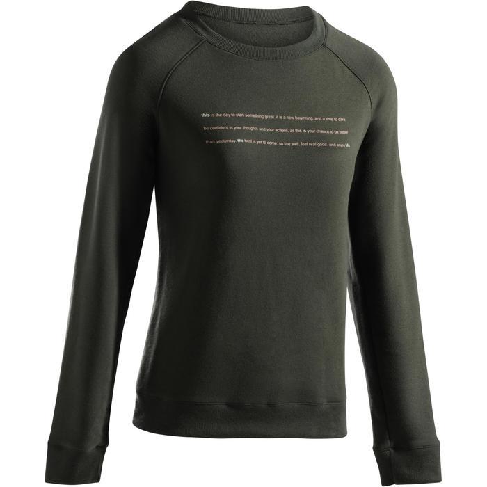 Sweat-shirt 100 Gym & Pilates Femme - 1273194
