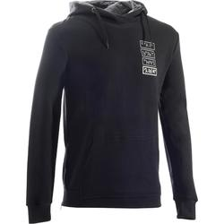 920 Hooded Gym & Pilates Sweatshirt with Side Zip - Black