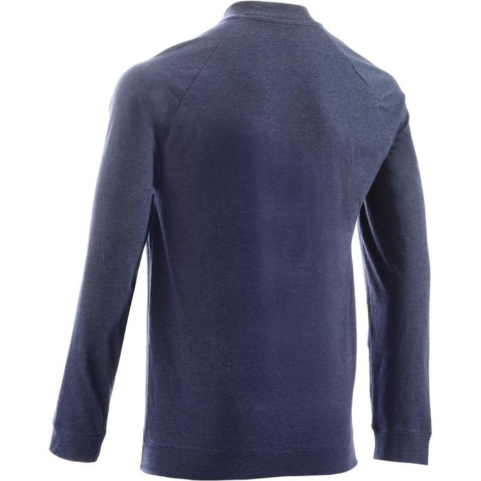 Veste 100 Gym Stretching homme bleu foncé