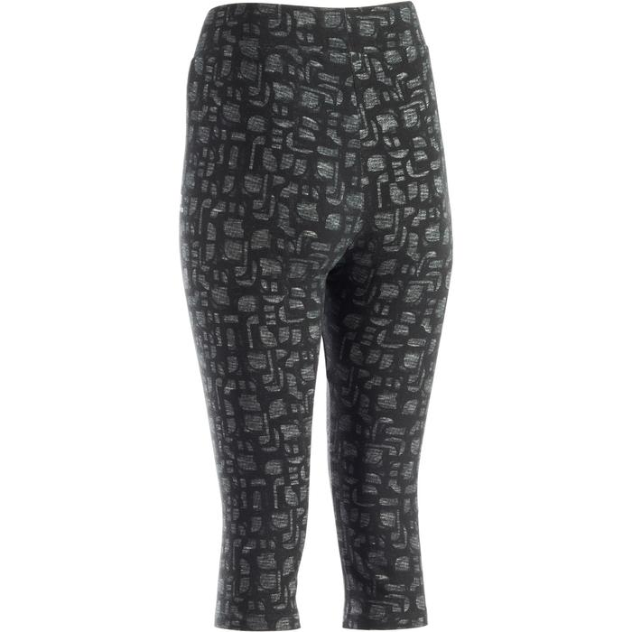 3/4-Hose Fit+ 500 Slim Fitness Damen blau mit Print