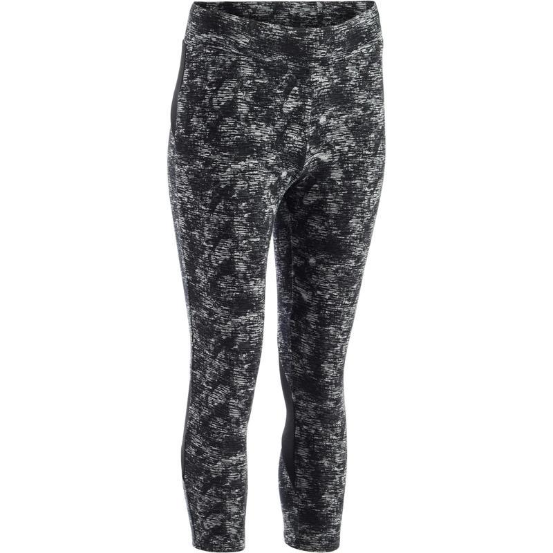 33f1bafc2ddb9 560 Women's Slim-Fit Gym & Pilates 7/8 Leggings - Black Dot Print ...