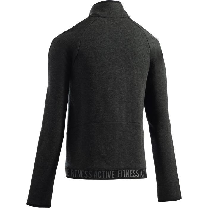 920 女性健身房 & 皮拉提斯運動連帽夾克 - 深灰色雲紋
