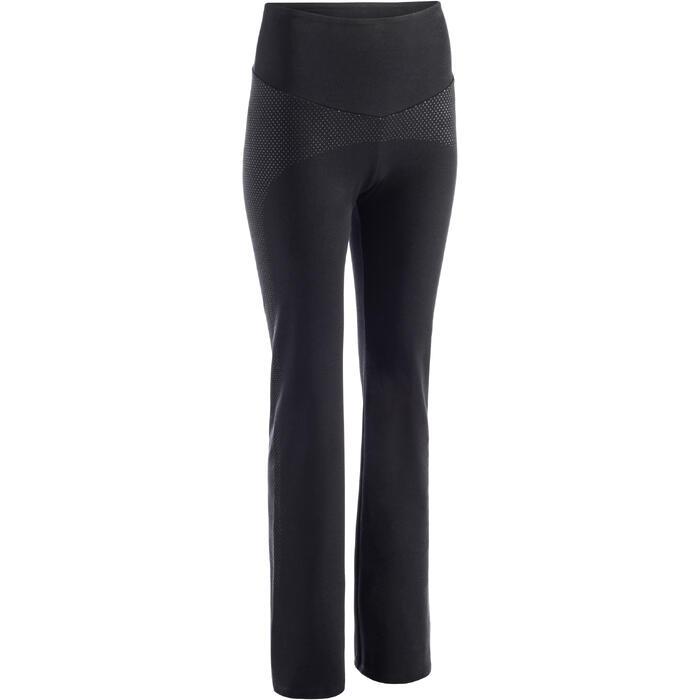 Legging 900 regular Gym Stretching & Pilates Femme noir - 1273249