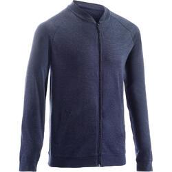Sweatshirtjacke 100 Gym Stretching dunkelblau