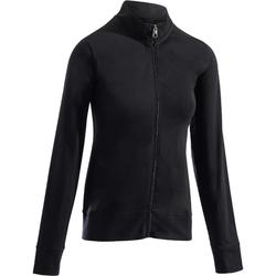 100 Women's Gentle Gym & Pilates Jacket - Black