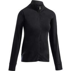 女款溫和健身與皮拉提斯外套100 - 黑色