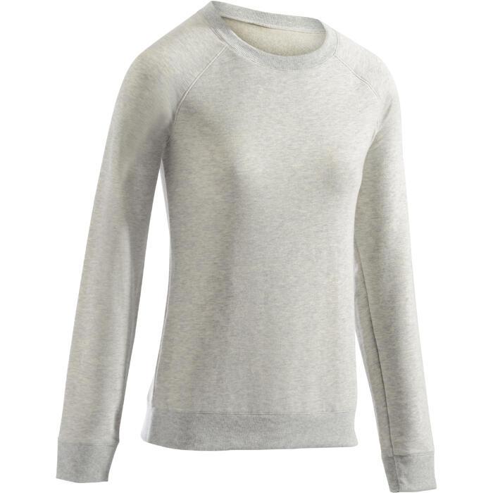 Sweat-shirt 100 Gym & Pilates Femme - 1273283