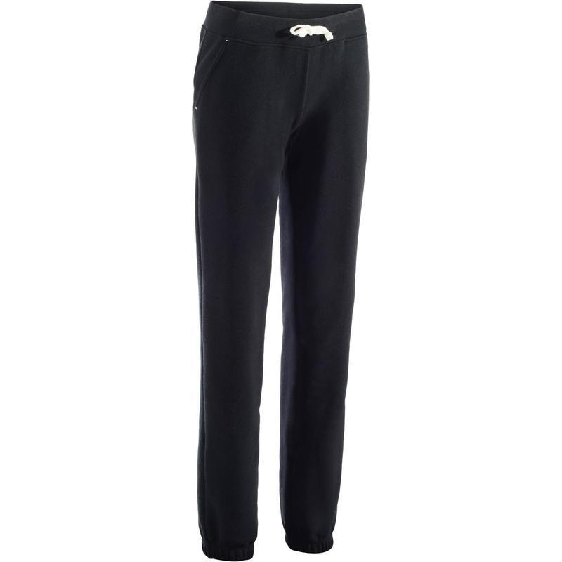 pas mal d8581 63daa Vêtements femme - Pantalon 500 regular Gym Stretching femme noir